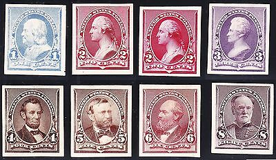 US 219P4-229P4 1890 Issue Proofs on Card VF-XF w/ Both 2c SCV $785 (003)