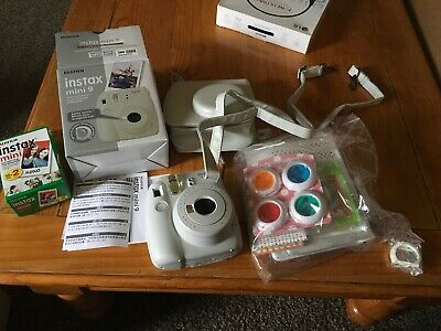 Fujifilm Instax Mini 9 Camera with Fuji Instant Film and Accessories Pictured