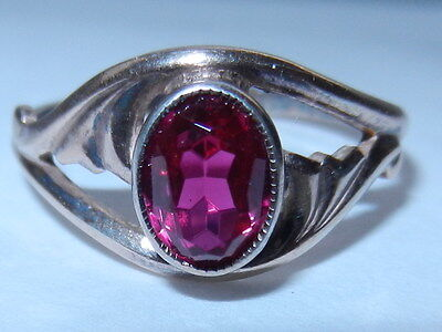 Rare Soviet VTG old Russian Sterling SILVER 925 Ring Size 10 ruby USSR