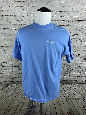 5567f7c61f8f VTG Men's Champion Baby Blue T-Shirt Size M Short Sleeve 90's Spell Out