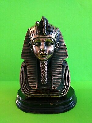 King Tut's burial mask the ancient Egyptian pharaoh bust, statue copper?