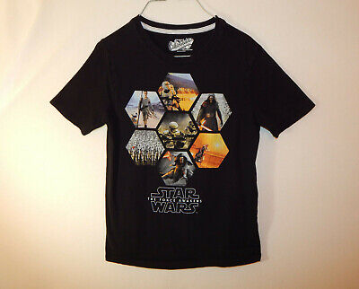 Star Wars Boy/'s Shirt The Force Awaken/'s T-Shirt Short Slv Charcoal Youth Size L