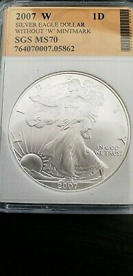 2007 Uncirculated American Silver Eagle US Mint Issue 1oz Silver #20