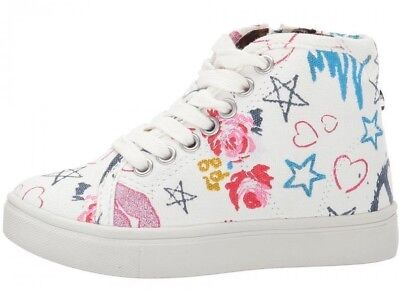 ad2c6ebf0ec TODDLER Girls STEVE MADDEN Hi Top Scribble Multi-White Shoes (Size 8)