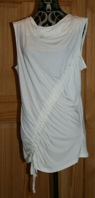 Next Tall Cream Ruched Side-Tie Top Uk12 Bnwot Great Springwear Long Tall Sally