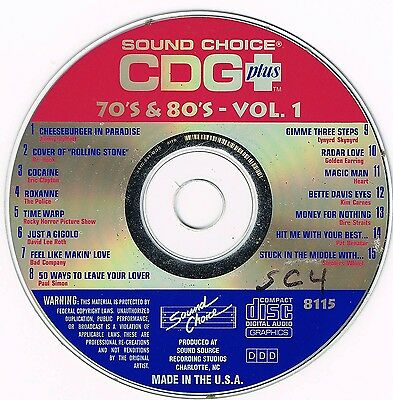 SOUND CHOICE KARAOKE SC-8115 - 70's & 80's VOL 1 - ORIGINAL SPOTLIGHT CD+G -OOP