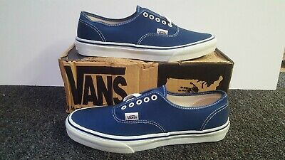 Vintage Vans AUTHENTIC shoes NAVY  made in USA Mens 10.5 BMX SK8 HI Old Skool