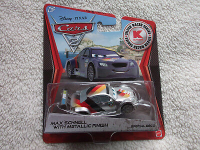 DISNEY PIXAR CARS LOOSE MAX SCHNELL WITH SILVER METALLIC FINISH  NO PACKAGING