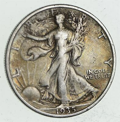 Strong Feather Details - 1935-S Walking Liberty Half Dollar *012