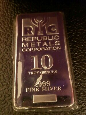 10 oz silver bar Republic Metals