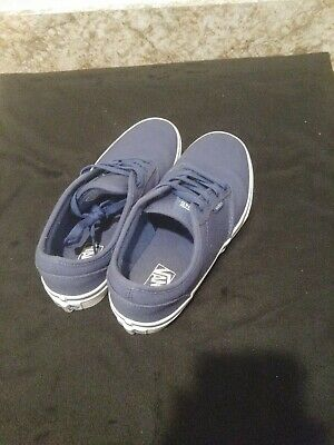 68e77dfc87 Womens VANS Atwood Canvas Low Blue Canvas Classic Sneakers Shoes TB4R 10- 2014