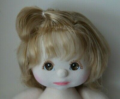 Mattel My Child Doll - Ash Blonde - Top Knot - Brown Eyes - Adorable