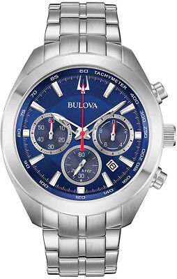 Bulova High Frequency Sport Stainless Steel Mens Watch 96B285 Chronograph