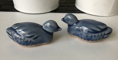 Vintage Porcelain Ceramic small Ducks Figure Decorative Glaze 7cm