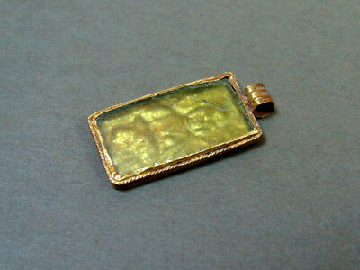 Ancient Gold & Glass Pendant Christian Image Late Byzantine 600-800 Ad