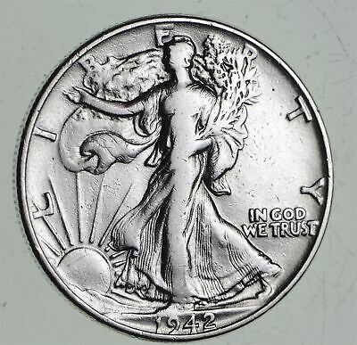 Strong Feather Details - 1942 Walking Liberty Half Dollars - Huge Value *490