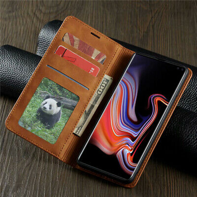 For Samsung Galaxy S10 S10 Plus S10E Magnetic Flip Leather Card Slots Case Cover