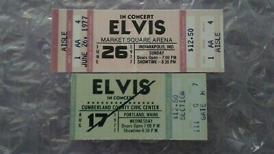 Elvis Presley Last Concert Ticket&First Concert Ticket Stub That Never Happened