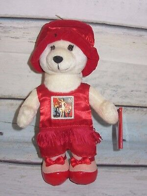 """BTG Cheerleader Football  Player Collectable Dress Up 8/"""" Bears in Clear Backpack"""