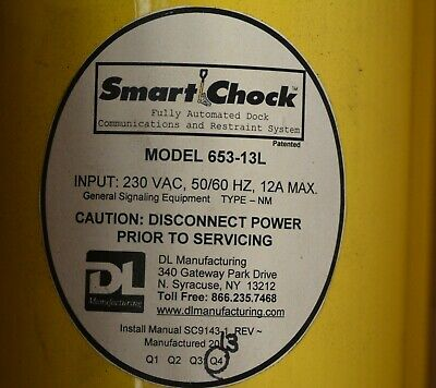 DL SMART CHOCK Model 653-13L Automated Dock Communications & Restraint System