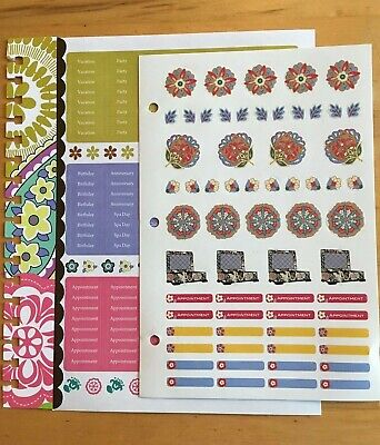 Vera Bradley 2 Pages of Stickers and Binder Bookmark