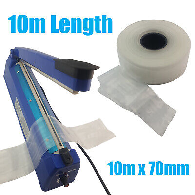 10m of Heat Seal Shrink Poly Tubing 70mm x 50um for Heat Sealers - 10 Meters