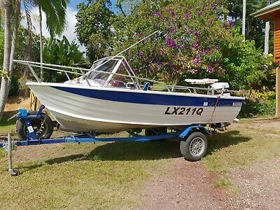Stacer 4572 SeaMaster Aluminum boat with 70 hp Johnson