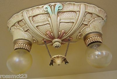 Vintage Lighting 1930s never used ceiling light by Lincoln