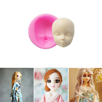 3D Baby Face Silicone Cake Mould Fondant Sugarpaste DIY Doll Head Mold SQ