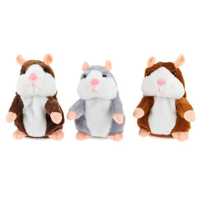 Cheeky Hamster Repeats What You Say Electronic Pet Talking Plush Kids Toy Gift