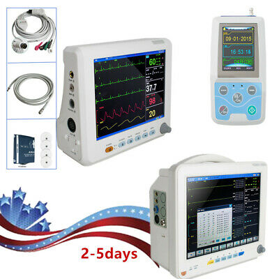 Hospital Vital Signs Patient Monitor NIBP SPO2 Pulse Rate Meter /NIBP, ECG, RESP