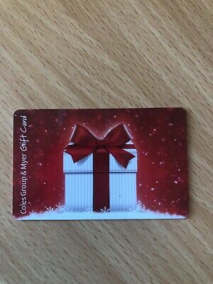 coles myer gift card $200 expires Dec 2022