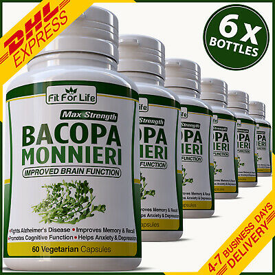 Bacopa Monnieri Cognitive Brain Function Enhancer Memory Brahmi Pill Capsule
