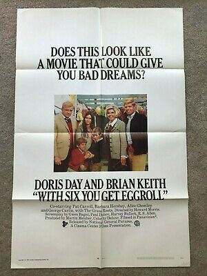 Original 1-Sheet Poster 27x41: With Six You Get Eggroll (1968) Doris Day