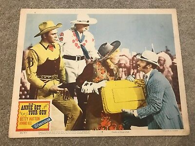 ORIGINAL LOBBY CARD 11x14: Annie Get Your Gun (1950) Betty Hutton, Howard Keel