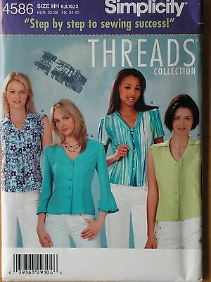 e0031f067ff Simplicity Sewing Pattern-Misses  BLOUSES-TOPS-Sizes  6-12-