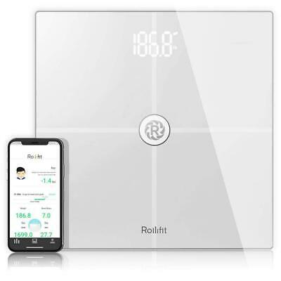 Rollifit Premium Smart Scale - Body Fat Scale with Fitness APP & Body Monitor -