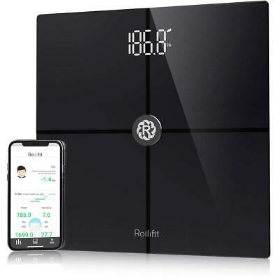 Rollifit Premium Smart Scale - Body Fat Scale with Fitness APP & Body