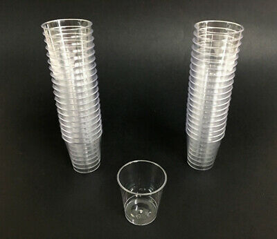 1oz Clear Shot Glasses Hard Plastic Mini Drinking Glass Party cups Catering Bar
