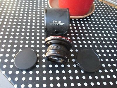 VIVITAR 0,42 X FISHEYE VIDEO LENS - MACRO - 46mm ADAPTER