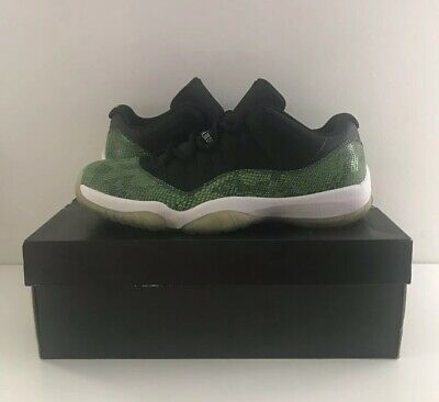 online store 093e8 3f32a Nike Air Jordan 11 XI Low Green Snakeskin Black Nightshade Size 10.5