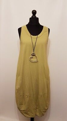 New LaGeNLook Quirky ITALIAN COCOON cotton LAYERING boho TUNIC/DRESS  fits:10-16