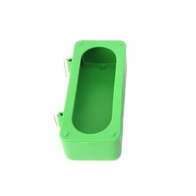 Food Bowl Feeder Bird Cage Green Plastic Cups Parrot Pigeons Feeding Drinking