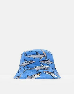 Joules Boys Brit Reversible Bucket Hat in BLUE SHARKS