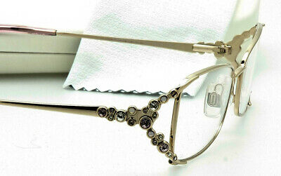 24563a330fc SWAROVSKI EYEGLASS FRAME Aurore SW5010 028 Gold with Purple-Pink Crystals  53mm
