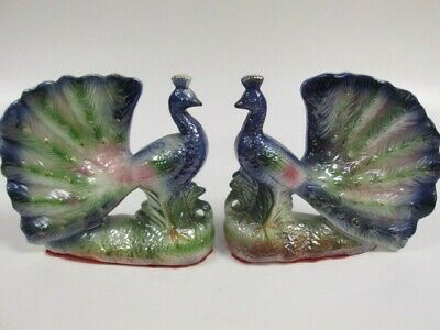 Pair of Early 19th Century or earlier porcelain Bird Figurines or Book Ends?