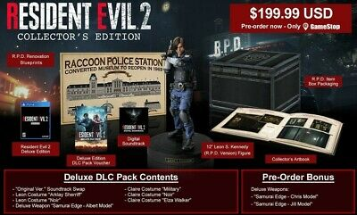 NEW Resident Evil 2 Remake Collector's Edition (PS4) Gamestop Exclusive on Hand!