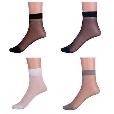 3 Pairs Mens Thin Short Stockings Socks Breathable Absorb Sweat Cool Summer