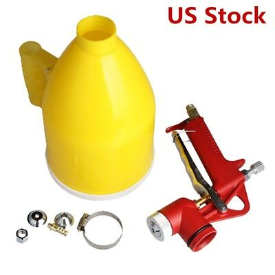 New 3 Nozzle Air Hopper Spray Gun Paint Texture Drywall Wall Painting Sprayer US
