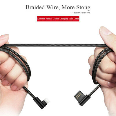 Apple Braided Lightning Sync Data USB Charging Cable For iPhone XS MAX 7 8 6Plus